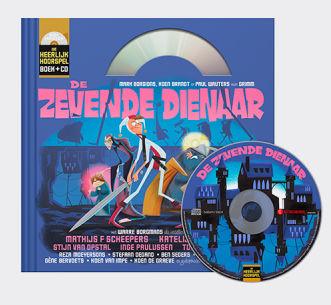 Hoesje van cd en boek De zevende Dienaar